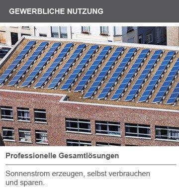 Gewerbliche Nutzung Solar Photovoltaik