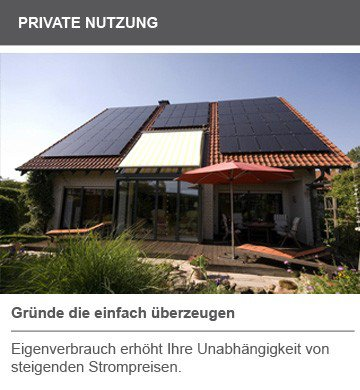 Private Nutzung Solar Photovoltaik