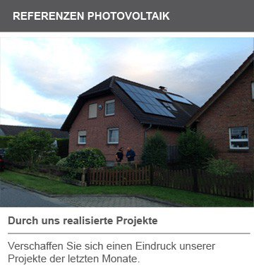 Referenz Photovoltaik Anlagen