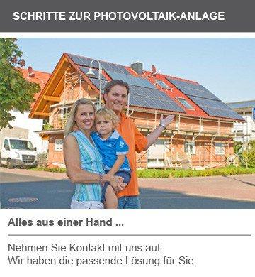 Schritte zur Photovoltaik-Anlage